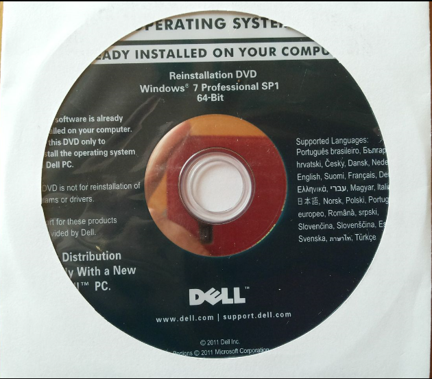 Windows 7 Pro DVD Front