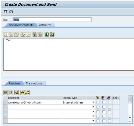 Create Document and Send